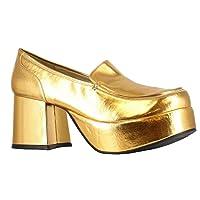 Gold Pimp Adult Shoes ゴールドピンプ大人用シューズ♪ハロウィン♪サイズ:Small (8/9)