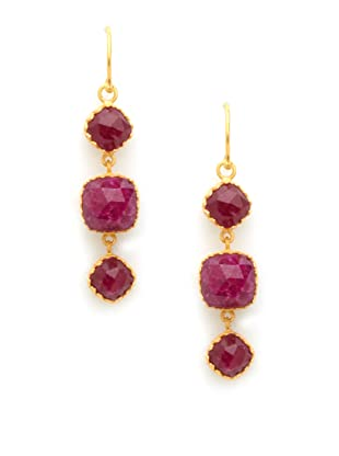 Kevia Rococo Ruby Linear Earrings
