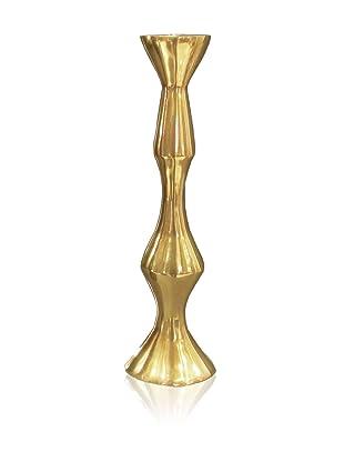 DKLiving Aluminum Candle Holder, Gold
