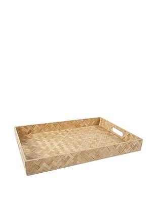 Core Bamboo Rectangle Zig-Zag Weave Trays (Mocha)