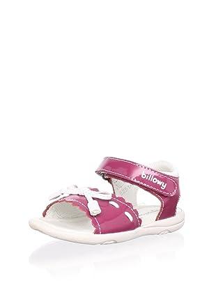 Billowy Kid's Ankle Strap Sandal (Fuchsia)