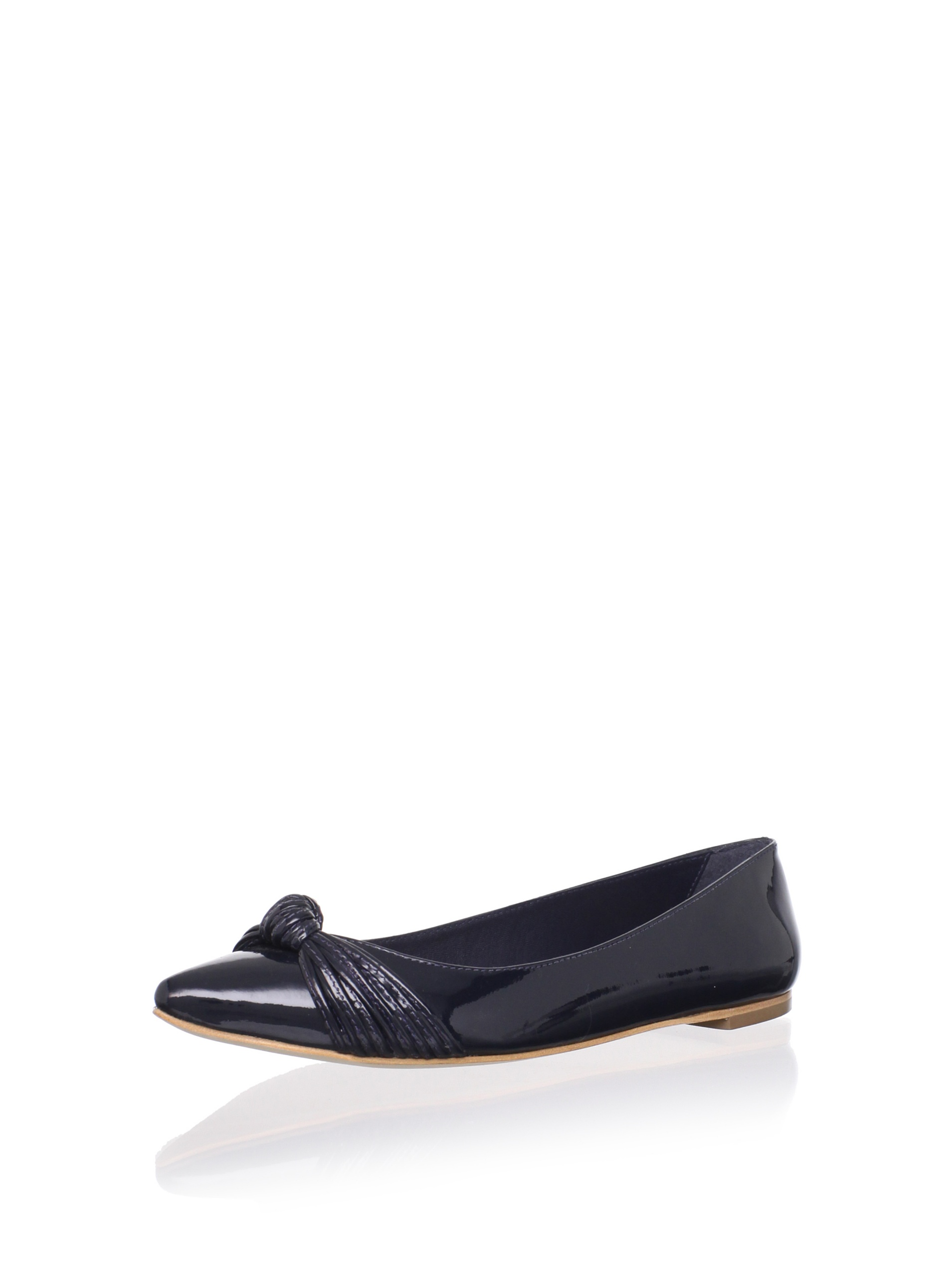 Loeffler Randall Women's Willow Flat with Mignon Knot (Navy)