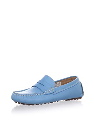 W.A.G. Kid's Penny Loafer Moccasin (Turquoise)