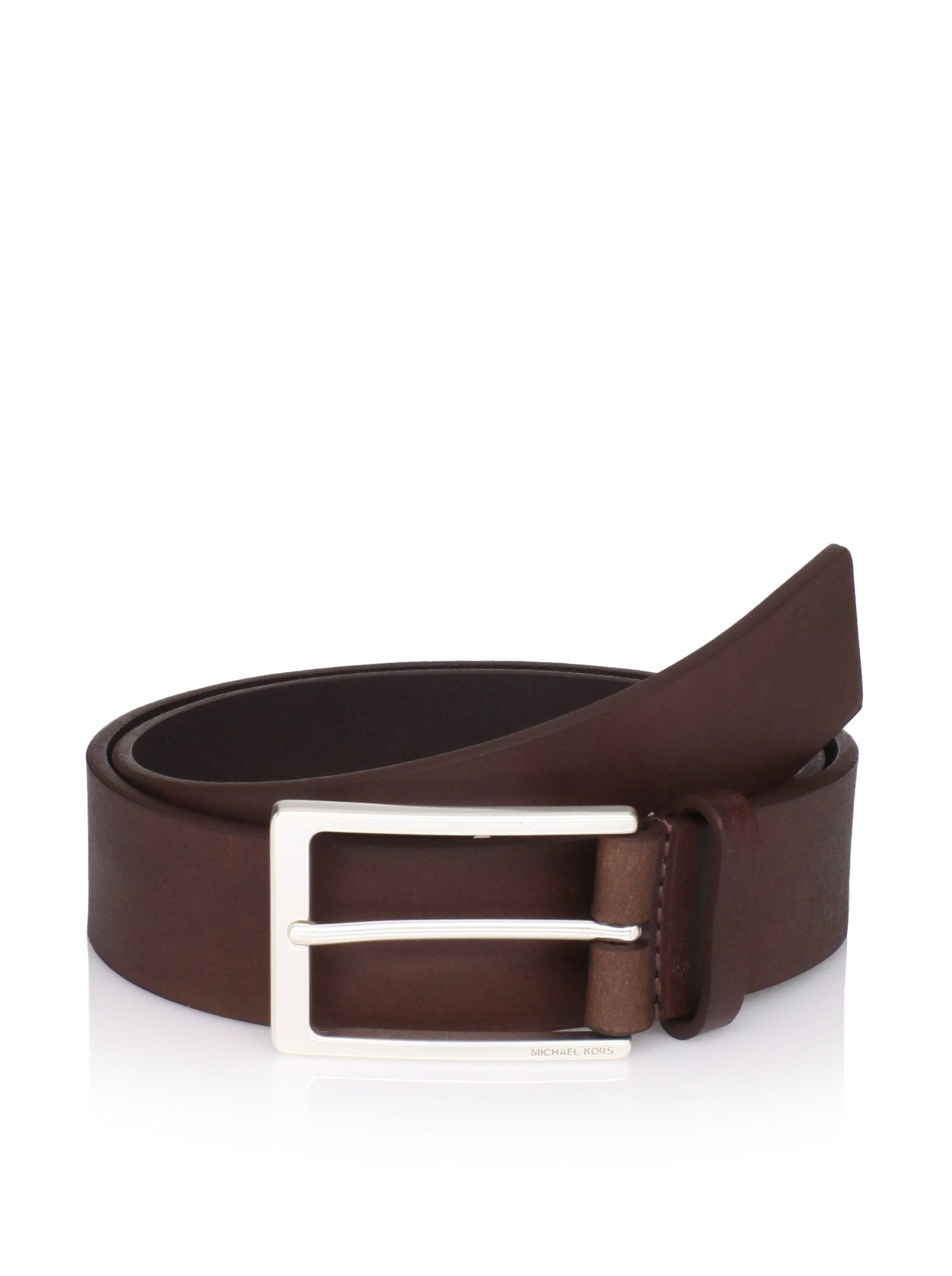 Michael Kors Men's Leather Belt (Chocolate)