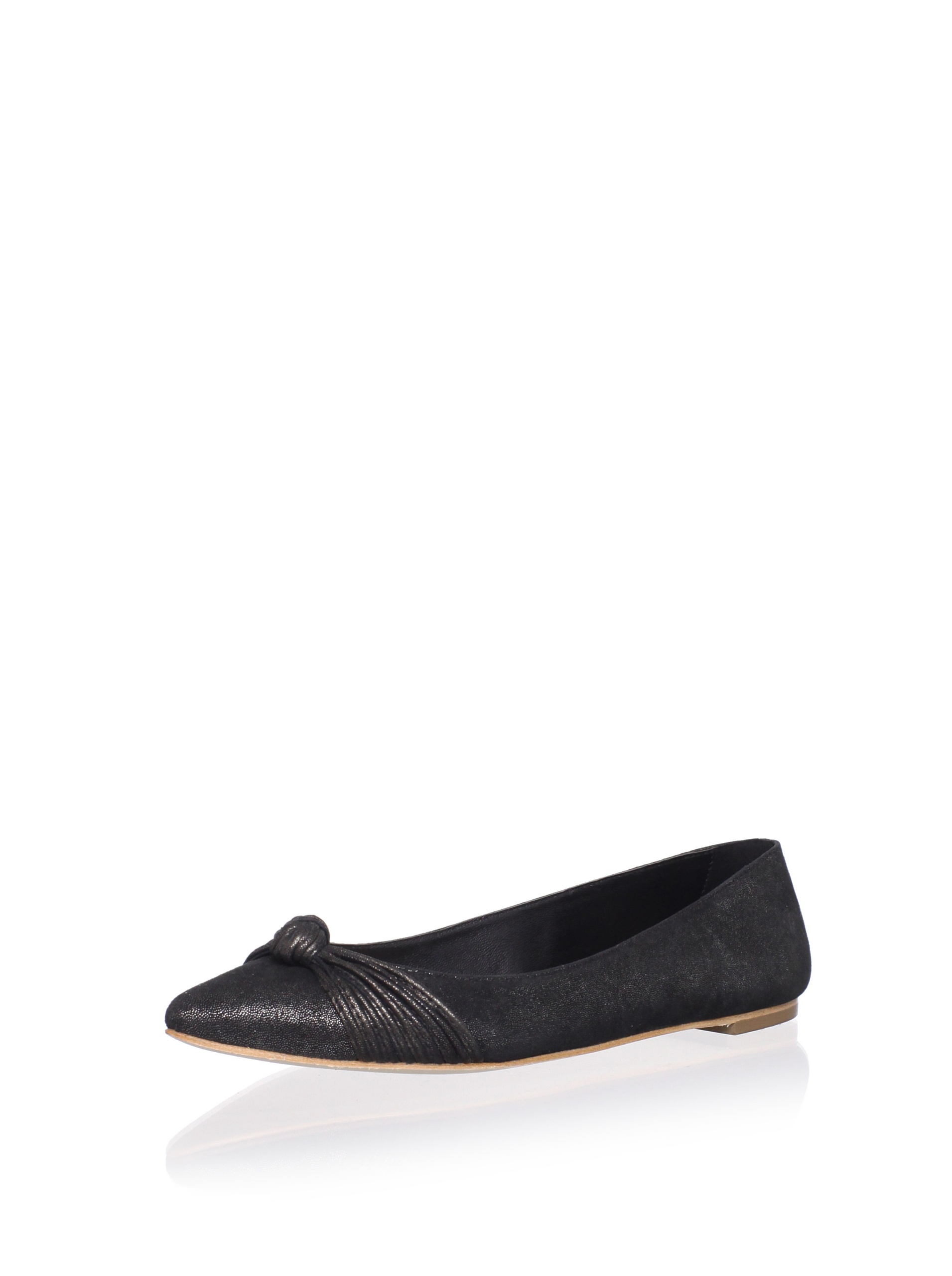 Loeffler Randall Women's Willow Flat with Mignon Knot (Black)