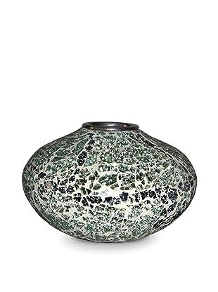 Global Pickings Green Mint Oval Mosaic Vase (Green Mint/Multi)