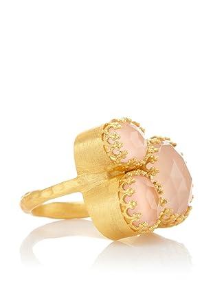 Kevia Rococo Rose Quartz Cluster Ring