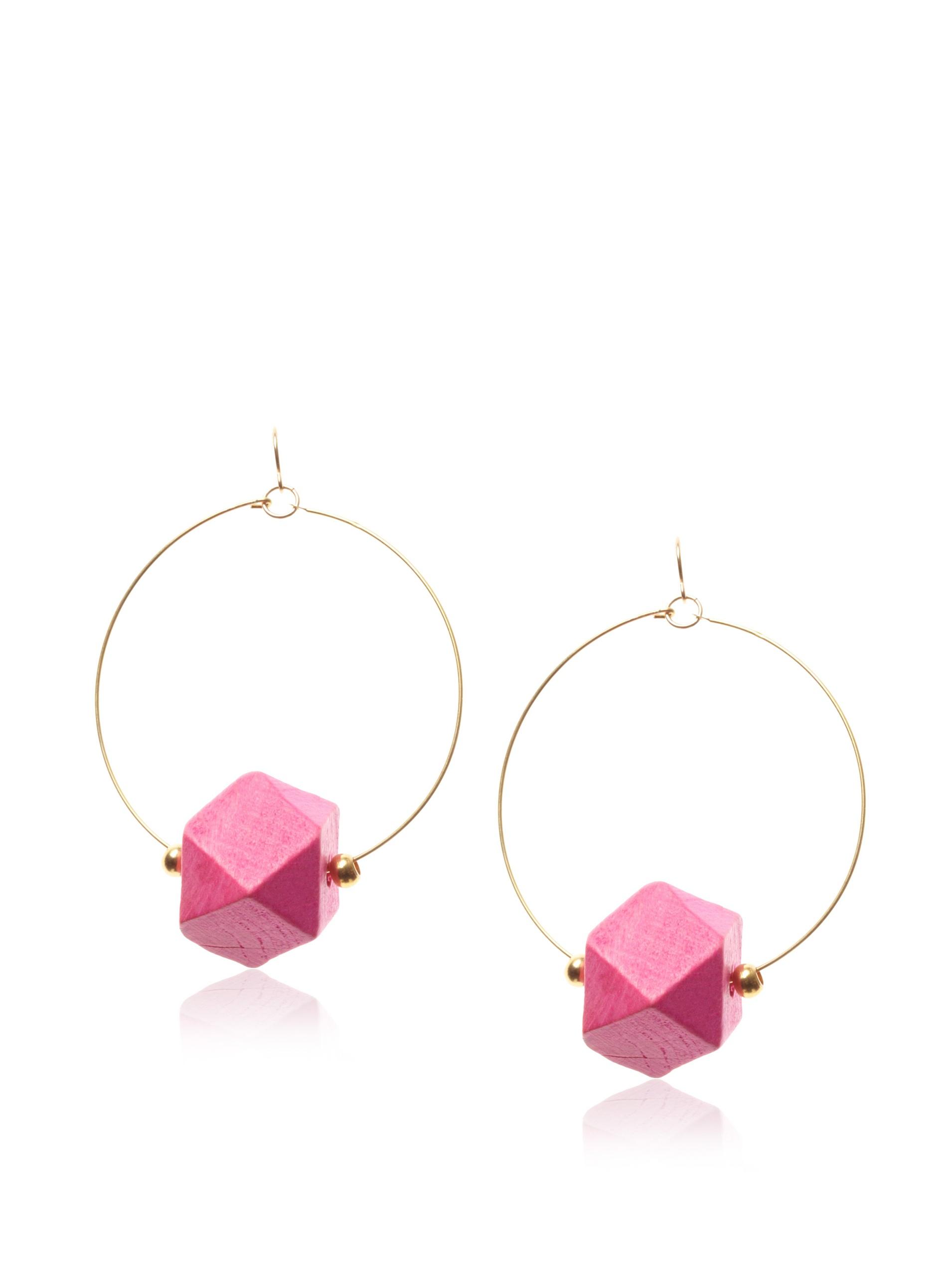 gorjana Color Block Hoop Earrings , Pink and Gold