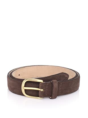 E.Tautz Men's Suede Belt (Brown)