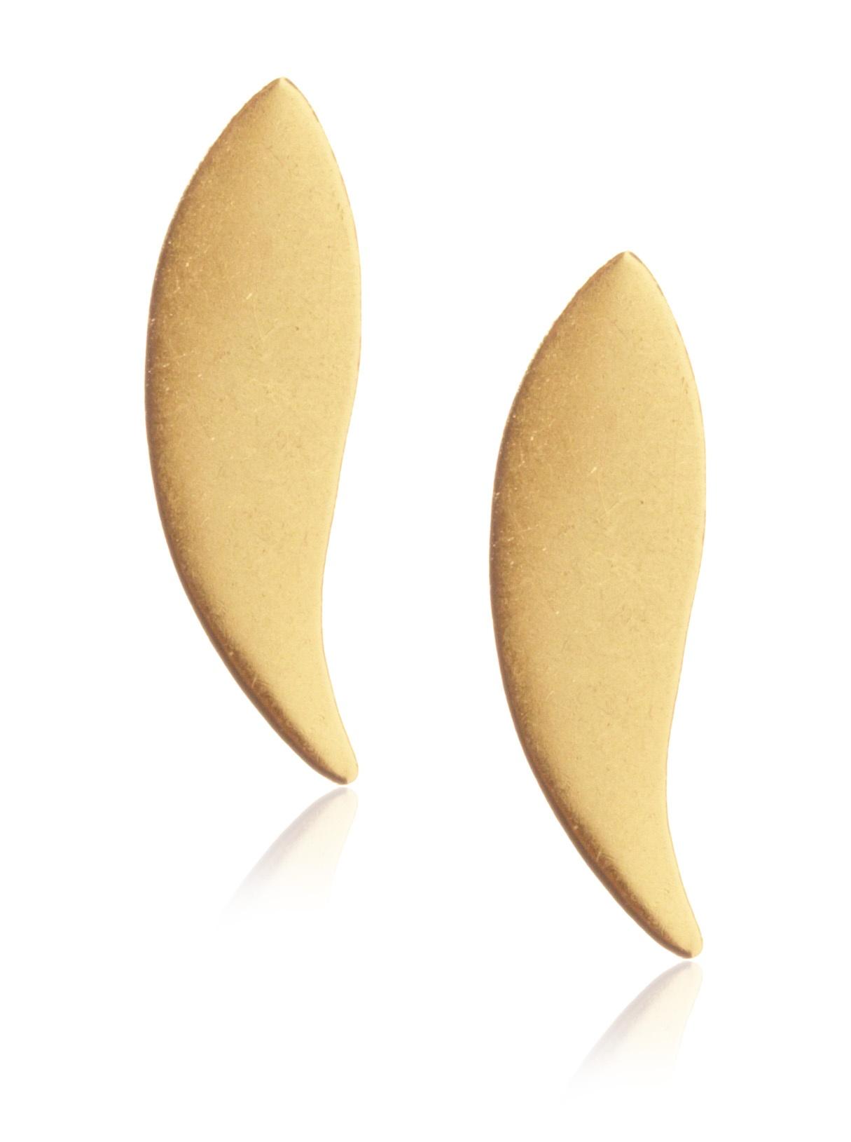gorjana Paisley Stud Earrings , Gold
