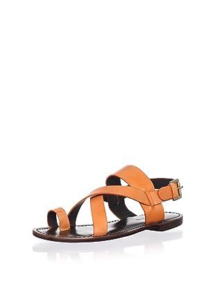 Pour La Victoire Women's Jamary Flat Sandal (Orange)