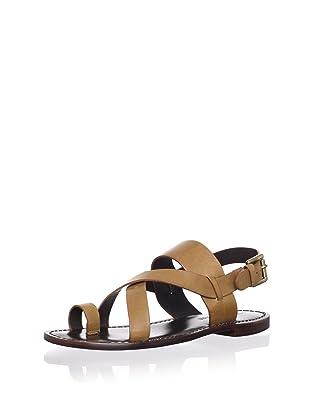 Pour La Victoire Women's Jamary Flat Sandal (Brown)