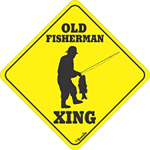 Old Fisherman XING Sign