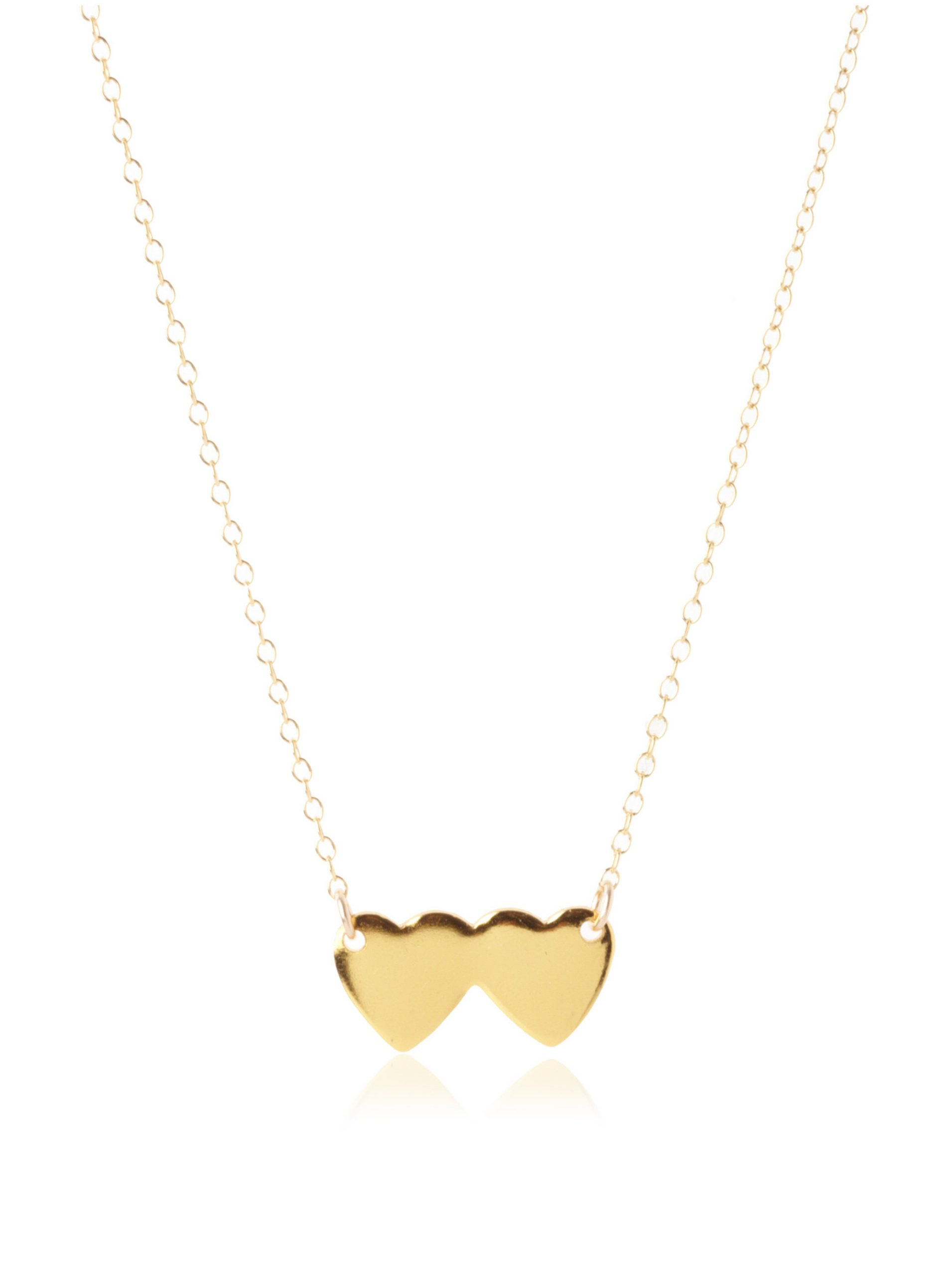 gorjana Two Hearts Necklace, Gold