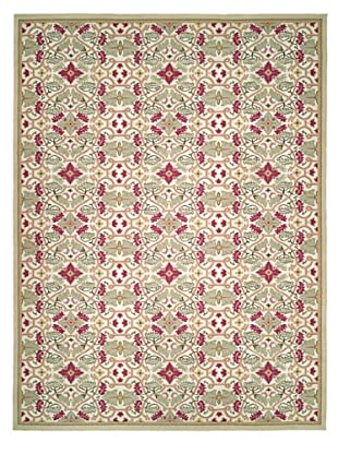 French Accents Julip Aubusson (Green/Red/Cream)