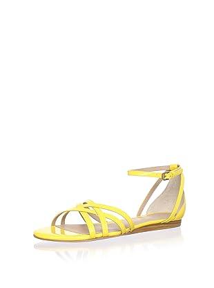 Pour La Victoire Women's Faine Sandal (Yellow Patent)