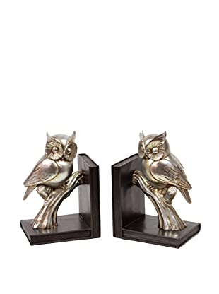 Set of 2 Owl Bookends, Gold