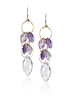Misha Amethyst Large Dangle Earrings