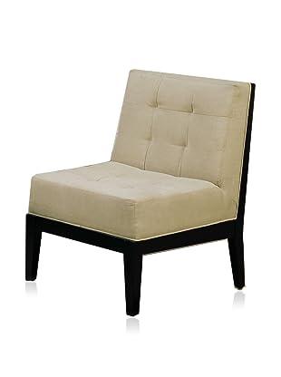 Armen Living Dupont Armless Chair (Cream)