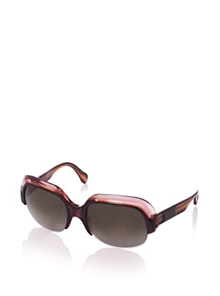 MARNI Women's MA119S Sunglasses, Plum/Brown