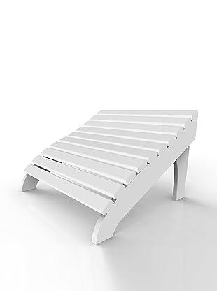 Malibu Outdoor Furniture Contour Footstool (White)