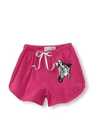 LA Lounge Girl's Zebra Shorts (Magenta)