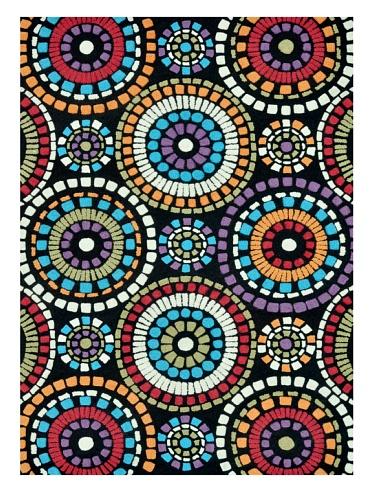 Loloi Rugs Aurora Collection Rug (Black Circles)
