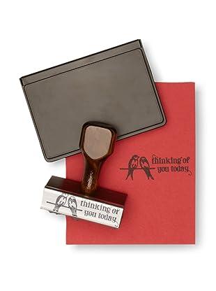 Paperwink Thoughtful Birds Stamp Set, Wood/Black