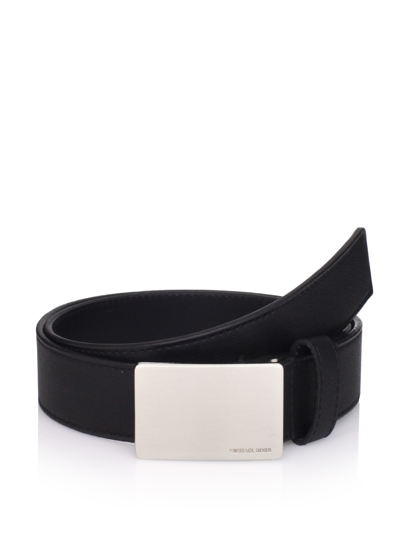 Michael Kors Men's Pebbled Belt (Black)