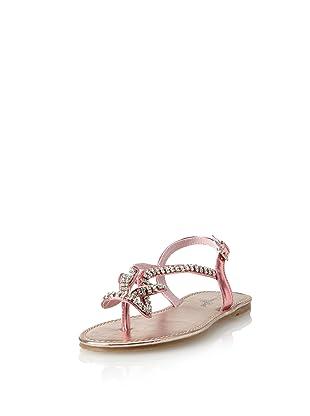 China Doll Girl's Diamond Knot Sandal (Toddler/Little Kid/Big Kid) (Pink)
