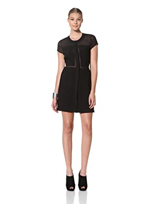 FACTORY by Erik Hart Women's Blocked Dress with Cutout Back (Onyx)