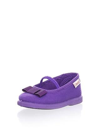 Cienta Kids Mary Jane with Bow (Purple)