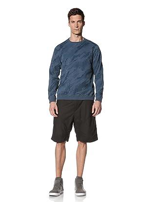Maharishi Men's Classic Lock Crew Sweatshirt (Macao Blue)