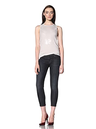 David Kahn Women's Lana Skinny Crop Jean (Crete)