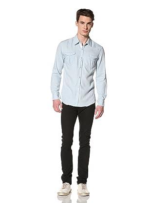 Brent Wilson The Basics Men's City Cowboy Fitted Shirt (Sky/white)