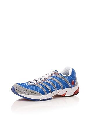 K-Swiss Women's K-Ona Mesh Running Shoe (True Blue/Firey Red/ Silver)