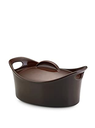 Rachael Ray Stoneware Bubble and Brown Casserole Dish (Chocolate)