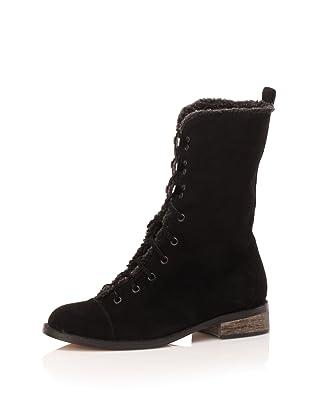 Charlotte Ronson Women's MJ Military Boot (Black)