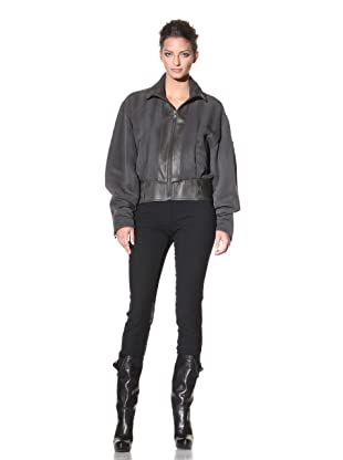 Haider Ackermann Women's Leather Trimmed Jacket (Hesse Anthracite)
