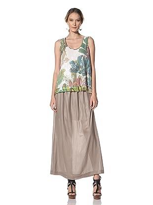 Kenneth Cole Women's Jungle Floral Print Sequin Tank (Ecru Combo)