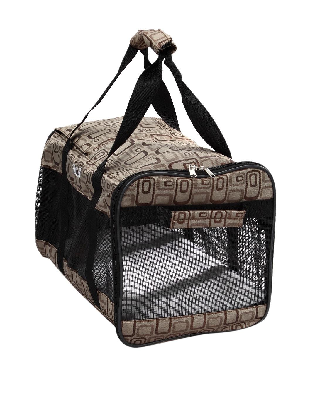 Pet Life Zippered Sporty Mesh Carrier (Jacquard)