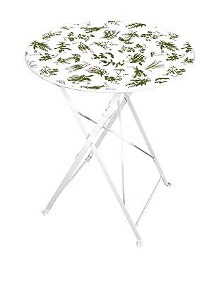 Esschert Design Herb-Print Bistro Table, Multi