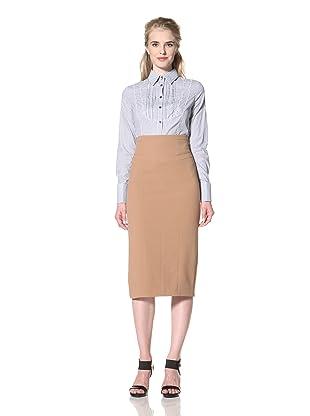 L.A.M.B. Women's Double Crepe Pencil Skirt (Camel)