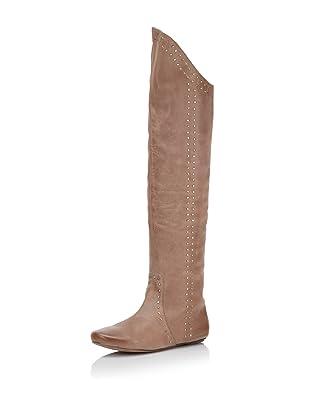 D-Segno Women's Sofia Tall Flat Boot (Maya Brown)