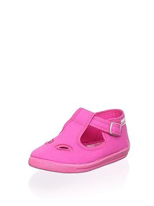 Cienta Kid's T-Strap Sneaker (Fuchsia)