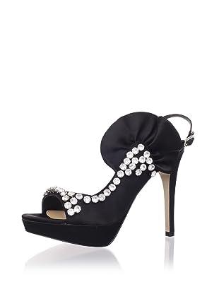 Le Soir Pour La Victoire Women's Giada d'Orsay Platform Sandal (Black)