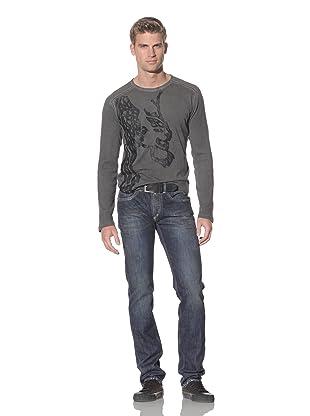 Just Cavalli Men's Silver Regular Fit Jeans (Blue)