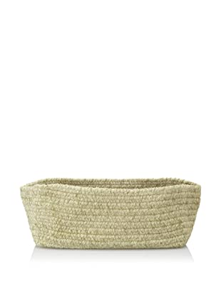 Colonial Mills Indoor/Outdoor Spring Meadow Chenille-Soft Rectangle Storage Basket (Sprout Green)