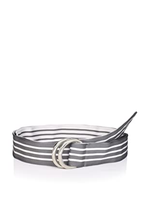 Thom Browne Men's Mogador Ribbon Belt (Grey/White)