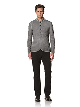 John Varvatos Collection Men's Button-Front Jacket with Elbow Detail (Pavement)